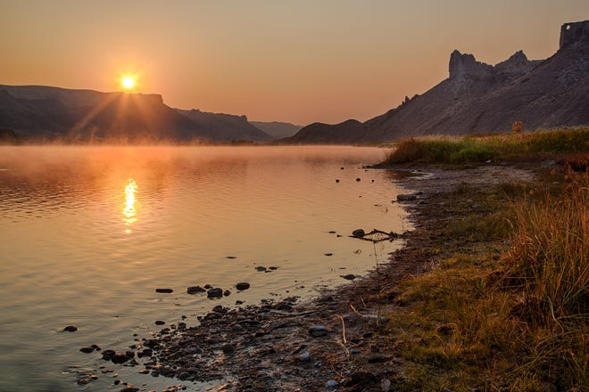 This photo of an early morning in the Upper Missouri River Breaks National Monument, which covers about 375,000 acres of BLM-administered public land in central Montana, will be a 2019 stamp. The site, 63 miles downstream from Fort Benton, is part of the 149-mile Upper Missouri National Wild and Scenic River. The Hole in the Rock Campground is just upstream.