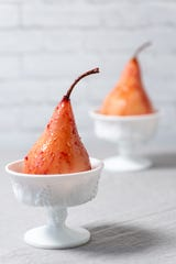 Bourbon-poached pears are a dynamite way to finish your holiday meal.