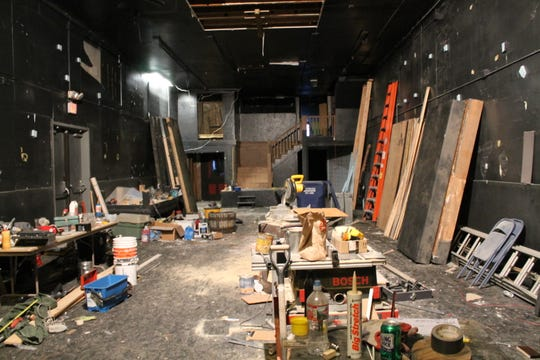 The back half of the pub that will become the theater portion