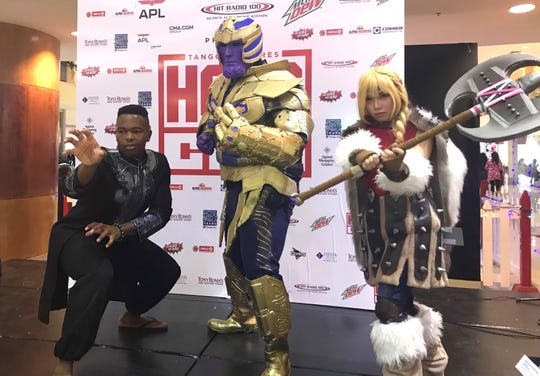 Cosplay contest winners pose for a photo at the 2nd annual HeroCon on Dec. 9, 2018.
