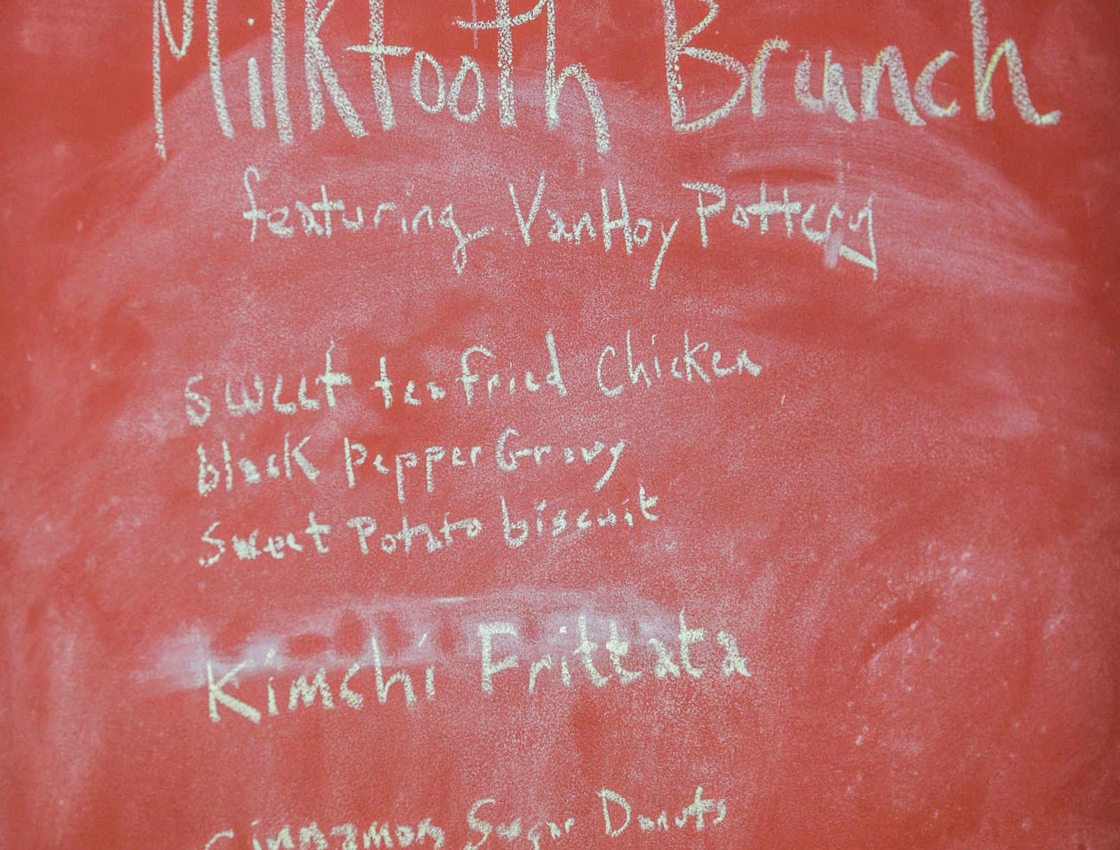 Sunday January 19th, 2014, Milktooth brunch menu. Milktooth owners Jonathan and Ashley  Brooks, hosted a menu preview brunch at Recess, wheree Jonathan is a chef de cuisine. The restaurant which will be located in Fountain Square will specialize in brunch.