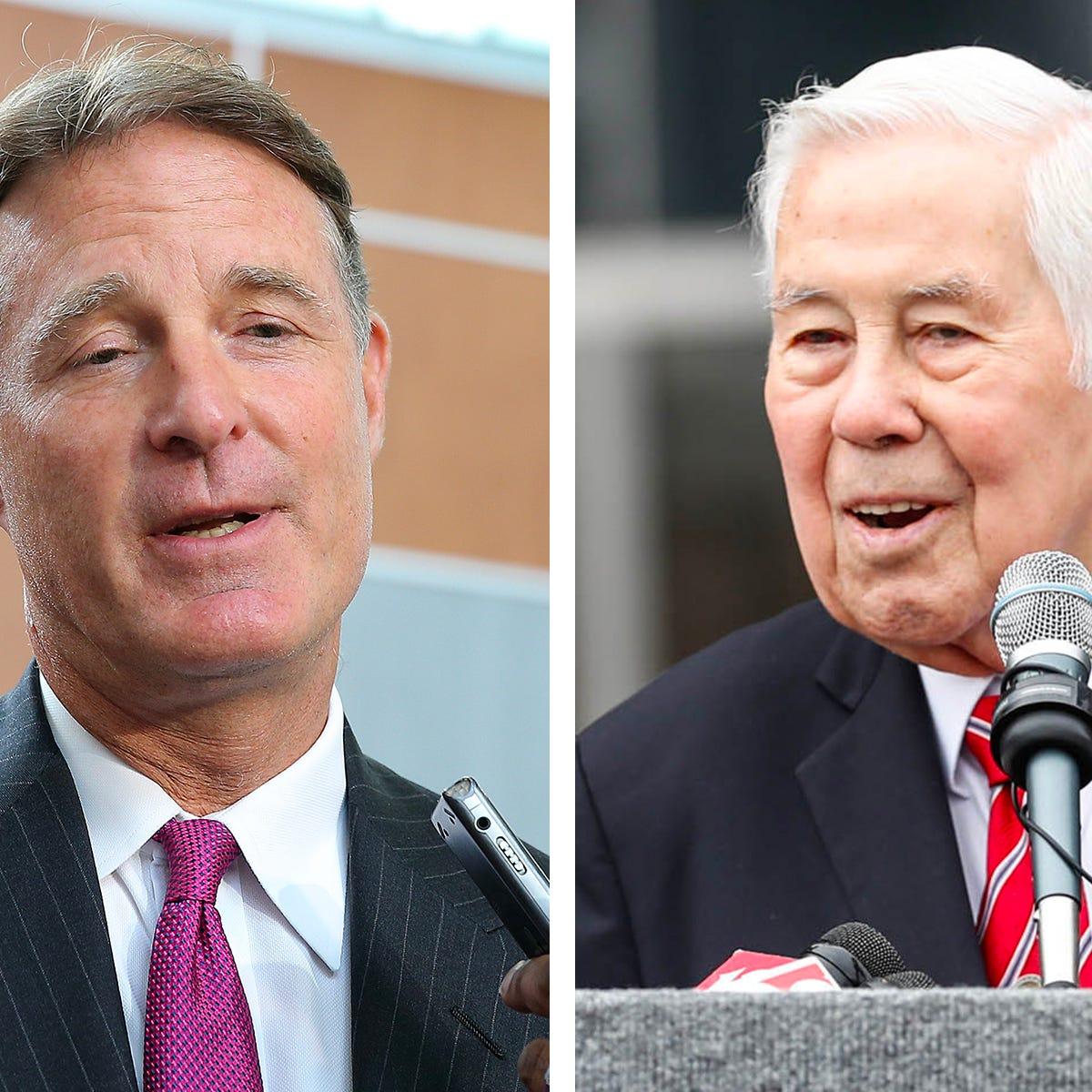 Former senators Evan Bayh (left) and Richard Lugar are among 44 former U.S. senators who wrote an open  letter published in The Washington Post.
