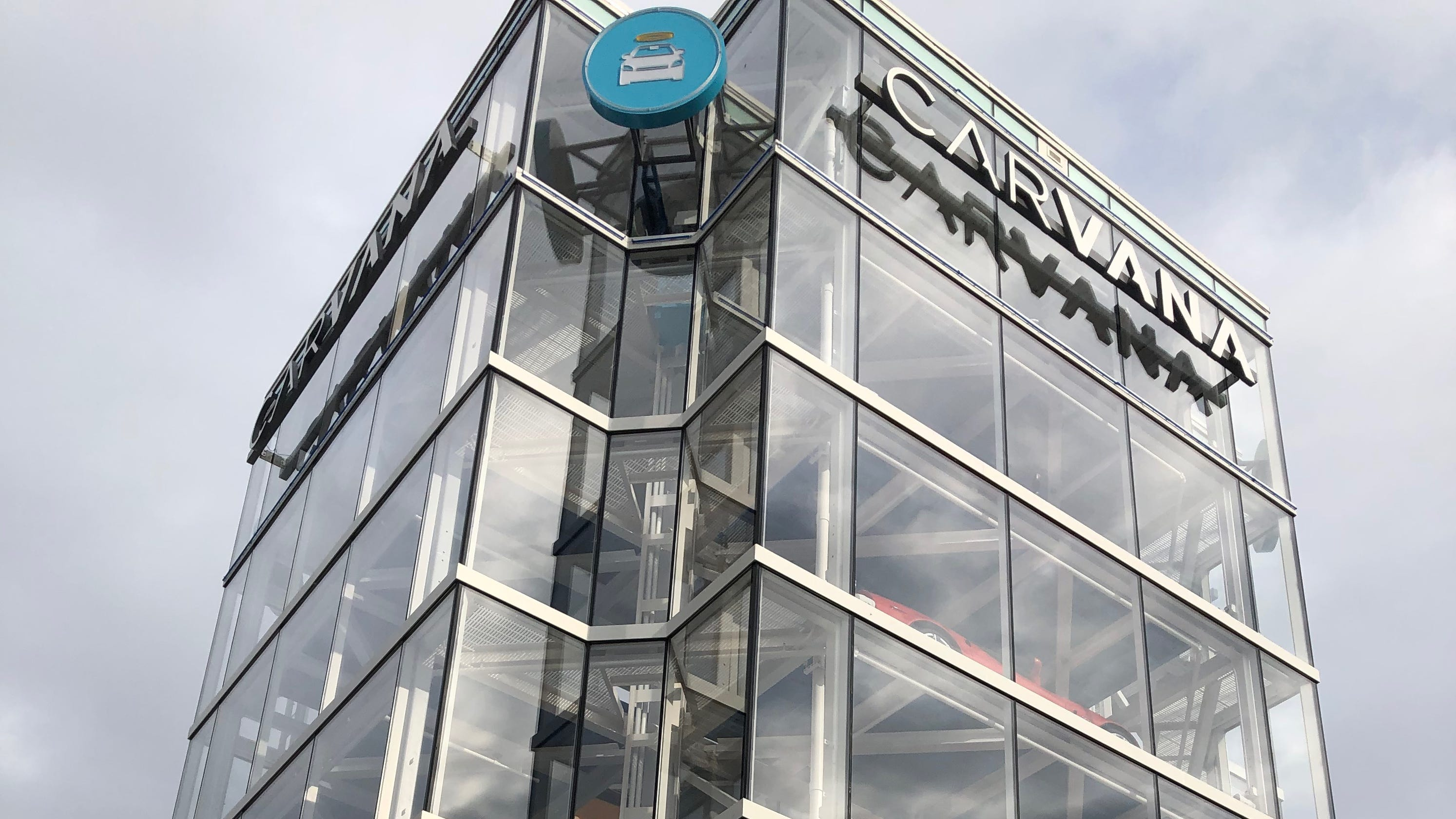 Carvana car vending machine now open near I-69 in Indianapolis