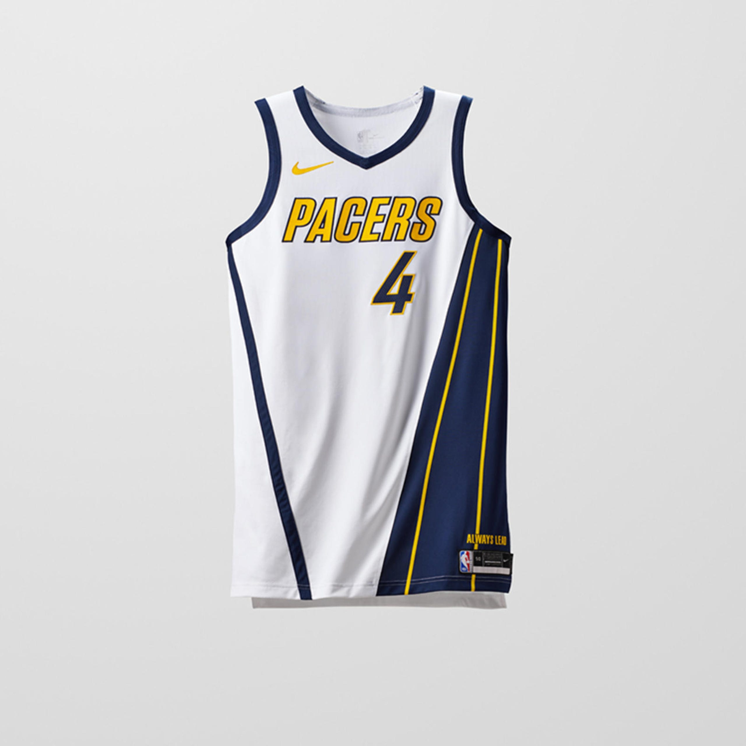 hot sale online 62234 8187c Pacers uniforms through the years