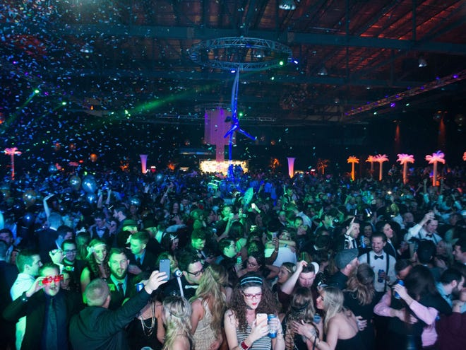 """The Pavilion at Pan Am presented a """"Great Gatsby""""-themed New Year's Eve party on Dec. 31, 2016."""