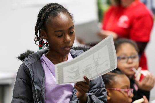 """Third-grade girls participate in a Girls, Inc. of Greater Indianapolis session at Mary Castle Elementary in Indianapolis, Tuesday, Dec. 11, 2018. Girls Inc. of Greater Indianapolis is the local branch of a nonprofit that aims to make girls """"strong, smart, andÊbold,"""" offering eight, free six-week courses to 85 Indiana partner schools."""