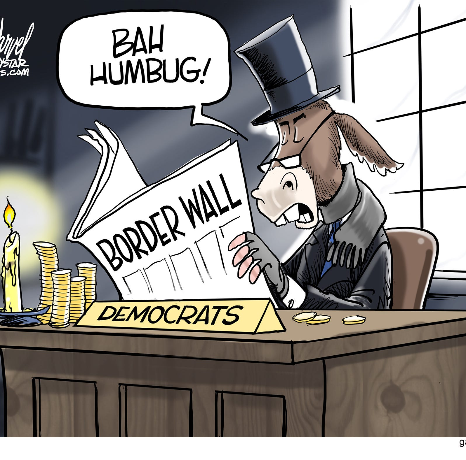 Cartoonist Gary Varvel: Democratic Scrooge