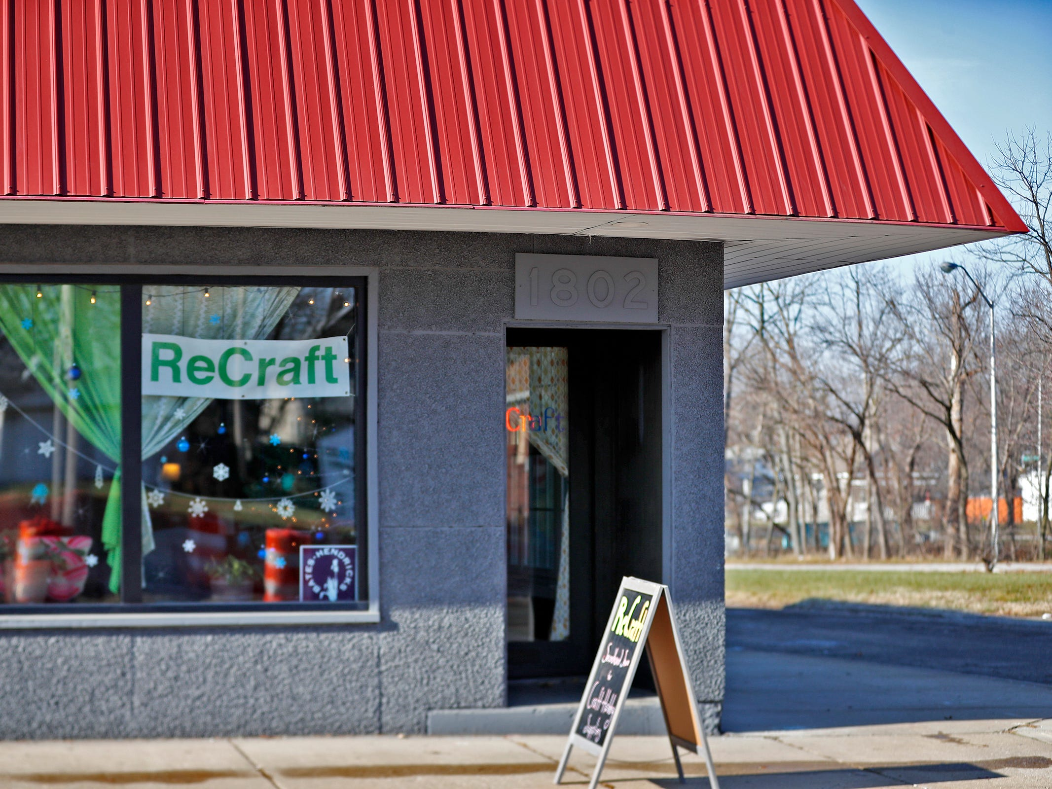 ReCraft is seen at 1802 Shelby St., Tuesday, Dec. 11, 2018.  ReCraft was born out of Bethany Daugherty's love of crafting and her interest in environmental activism.  At the secondhand craft and hobby store, Daugherty also teaches workshops.  Sustainability and environmentalism are a focus of the store.