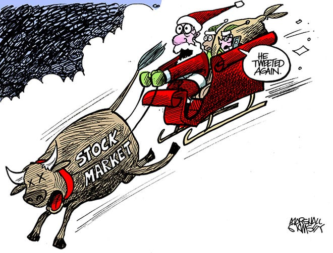 When the President tweets, Wall Street listens.