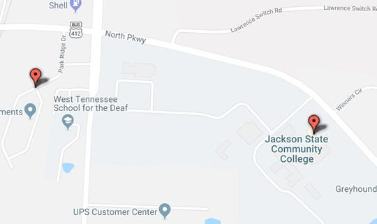 Jackson Police took two people into custody near Jackson State Community College around 3 p.m. Tuesday in connection with shots fired near Park Ridge Drive Tuesday afternoon.
