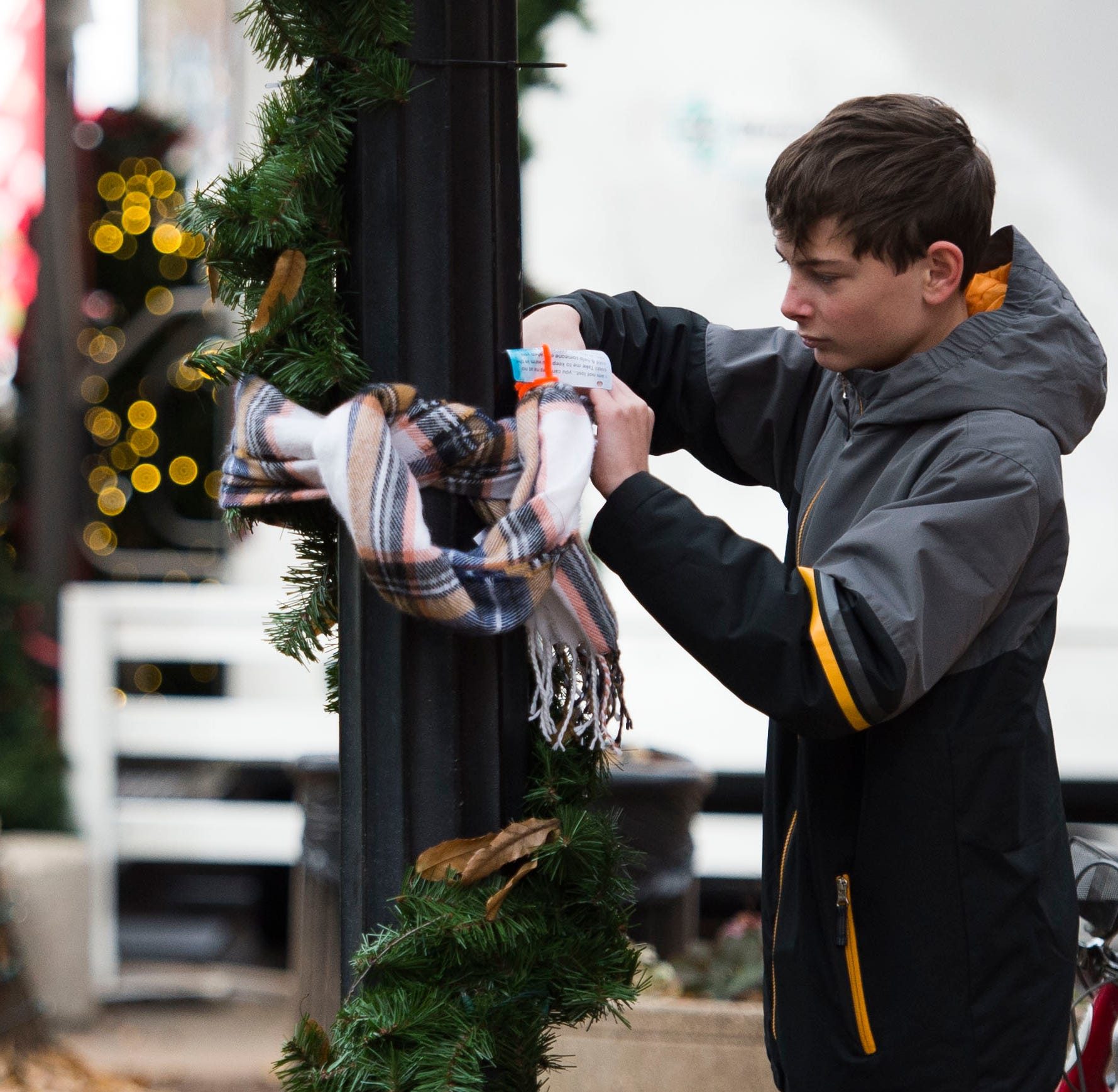 See a scarf hanging in Downtown Knoxville? Go ahead, take it