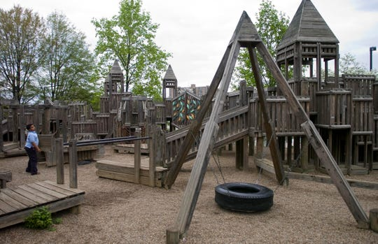 The Fort Kid playground was built by volunteers in 1991.