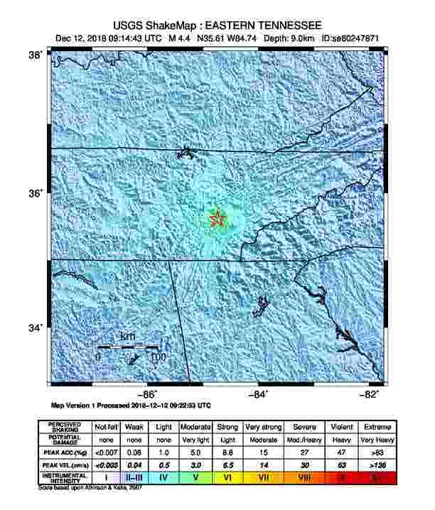 Tennessee earthquake: Reactions from the strongest quake to hit the ...