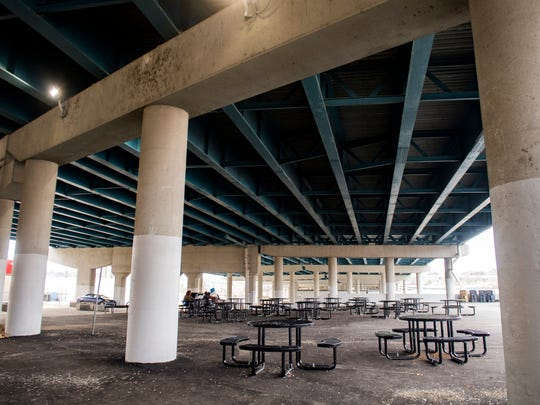The City of Knoxville transformed a homeless camp situated under an interstate overpass along Broadway into a day park late last year.