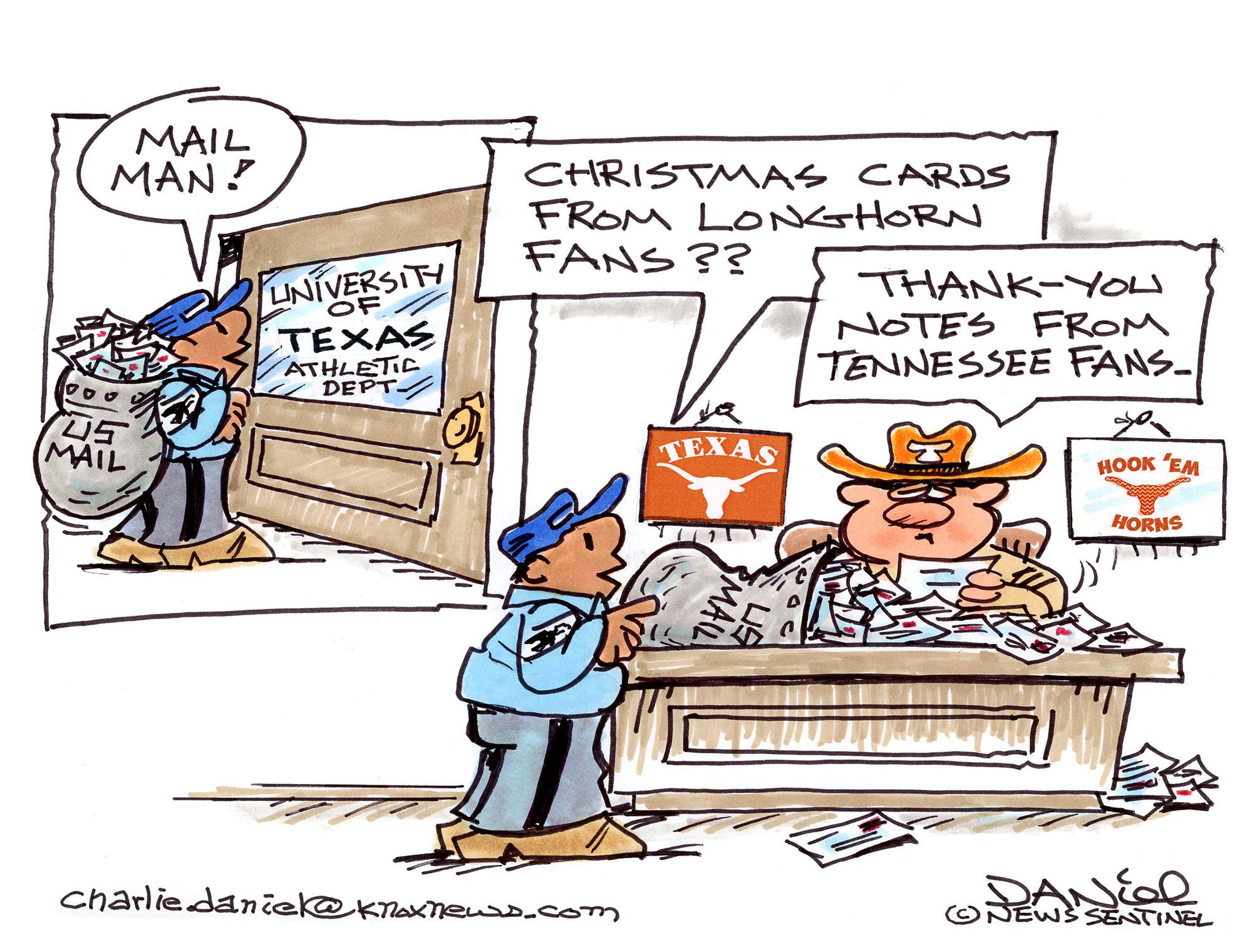 Charlie Daniel cartoon for Dec. 13, 2018