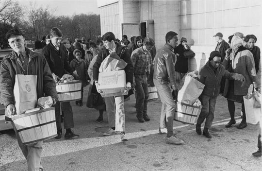 Empty Stocking Fund distribution on Dec. 24, 1968.