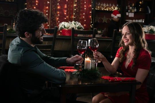 "Franco Lo Presti and Emily Alatalo star in UPtv's ""Christmas Catch."""