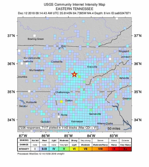 Earthquake In Decatur Tennessee Hits 4 4 Magnitude Felt In Georgia