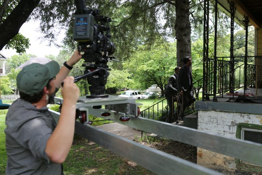 "A recreation scene for ""Murder Decoded"" is filmed."