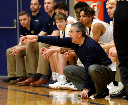 Lancaster boys basketball coach Kent Riggs has 437 career coaching wins. This is his third season at Lancaster after spending 27 seasons at Canal Winchester.