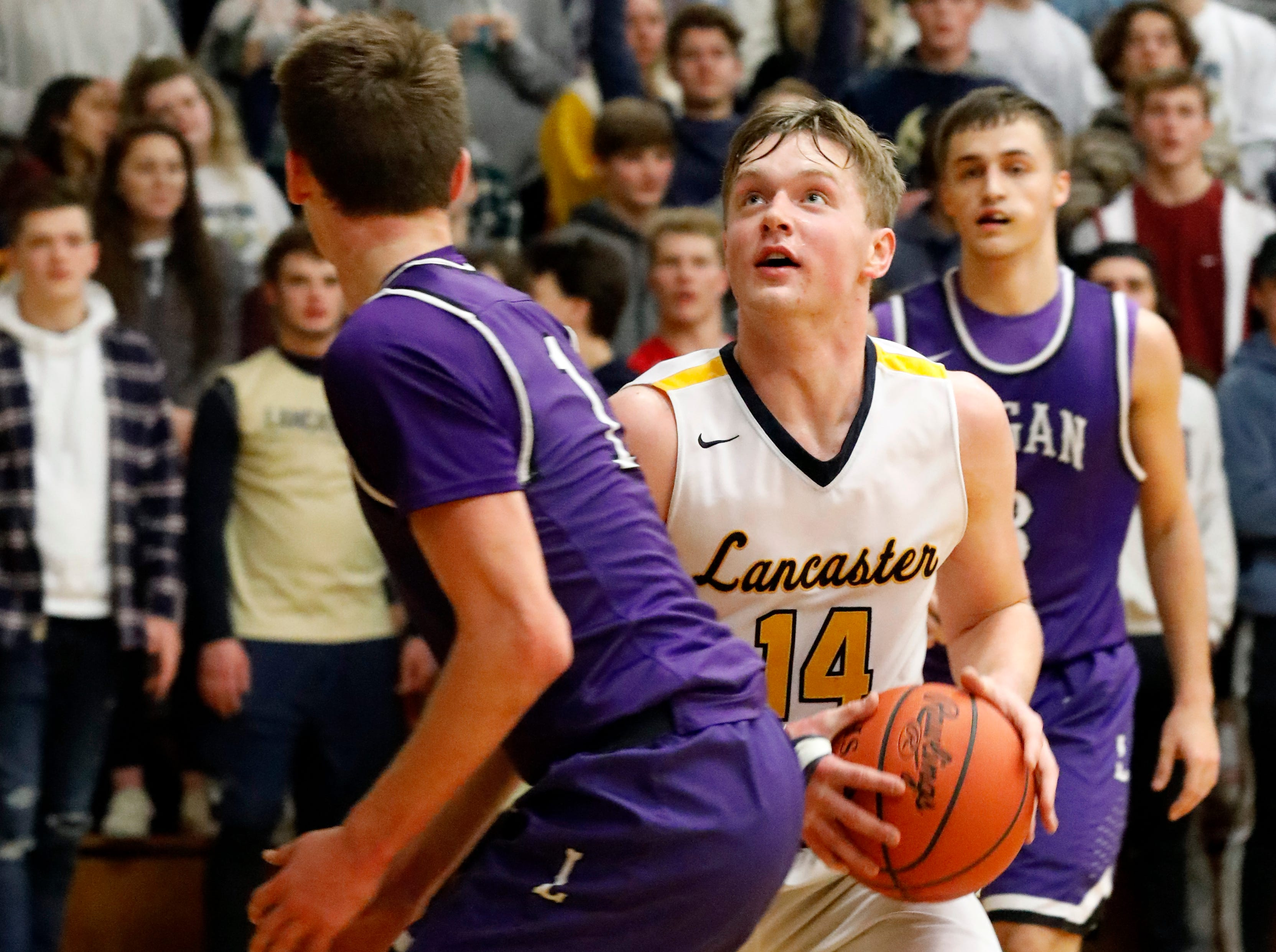 Lancaster lost to Logan 65-37 Tuesday night, Dec. 11, 2018, at Lancaster High School in Lancaster.