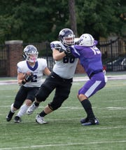 Brighton graduate Brendan Klaus (68) is a starting right tackle for a Mount Union football team that is going for a second straight NCAA Division III championship Friday.