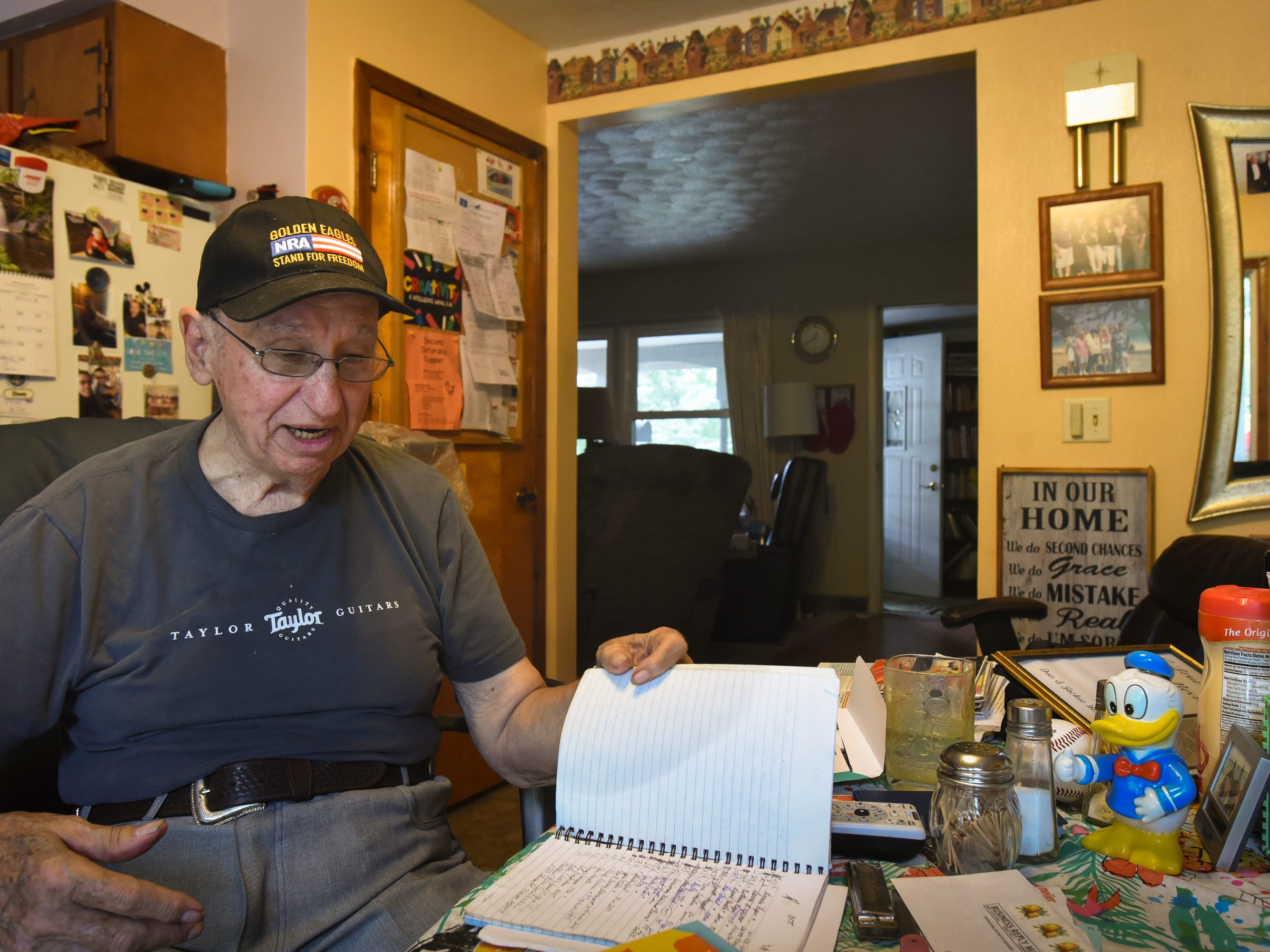 """How do I keep going you ask? I work in the yard every day, I feed the chickens, I collect eggs.  I've taken over Jackie's task of sending cards and letters to friends and family, that's what she used to do,"" Don West, 90, of Eaton Rapids said Wednesday, Aug. 29, 2018, about dealing with the absence of his wife Jackie, who has lived in a retirement home since her June 2017 stroke.  ""I visit every day - I haven't missed one day,"" West says matter-of-factly.  ""I tell Jackie everything about my day, who it is I talked to, where I went - That's what she wants to know,"" he says."