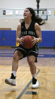 Clear Fork's Morgan Galco attempts a shot while playing at Ontario on Tuesday evening.