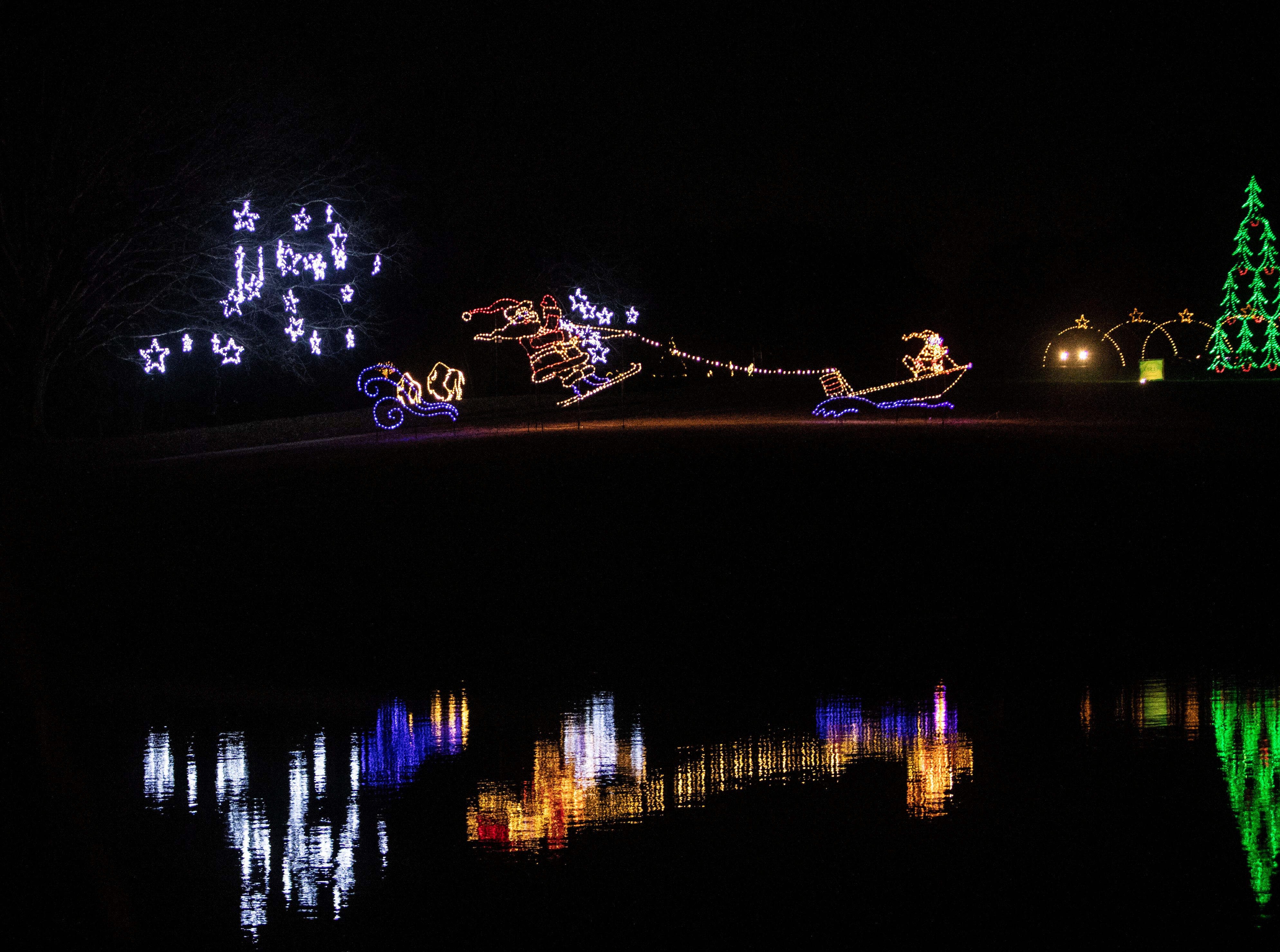 Starry Nights, annual drive-through light display at Shelby Farms, features walking trails of lights and a drive-through display.