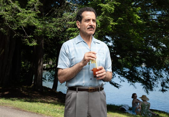 "Tony Shalhoub plays Abe Weissman, the father of Miriam Maisel, on Amazon's ""The Marvelous Mrs. Maisel."" Here,  Shalhoub is pictured at one of the scenes filmed at Scott's Oquaga Lake House."