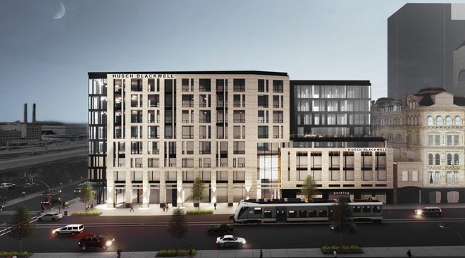 The Husch Blackwell law firm will anchor the nine-story Broadway Connection office building that will be developed at the northwest corner of North Broadway and East Clybourn Street.