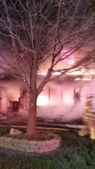 Flames engulf a residence on Cornell Circle in Muskego.