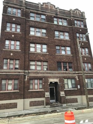 This apartment building at 2904 W. Wisconsin Ave. is the subject of a lawsuit filed against James M. Crosbie.