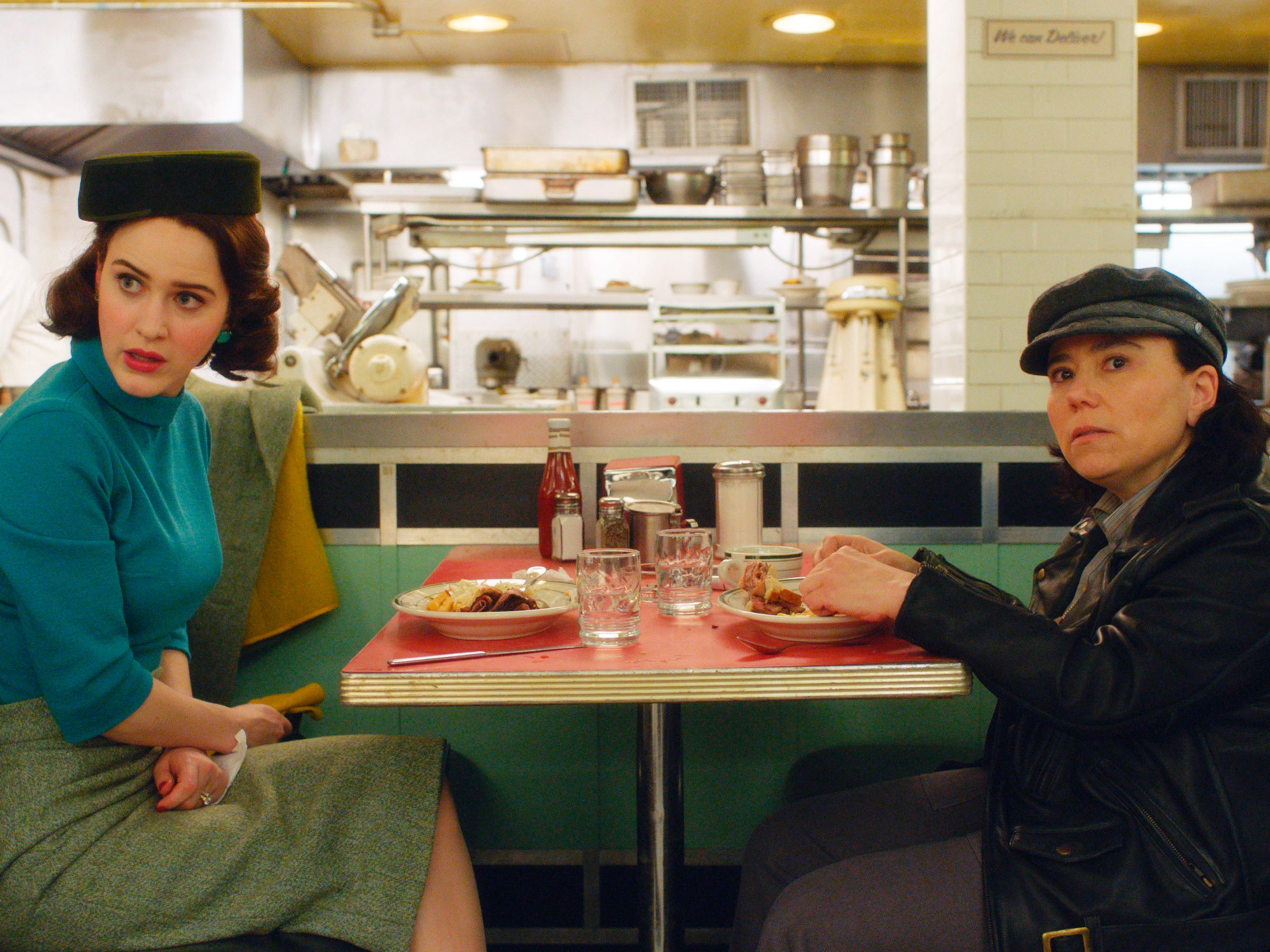 "Rachel Brosnahan (left) and Alex Borstein, shown in a scene from ""The Marvelous Mrs. Maisel,"" were both nominated for Screen Actors Guild Awards for best female actor in a comedy series Wednesday. The Amazon series also was nominated for best ensemble cast in a comedy series."