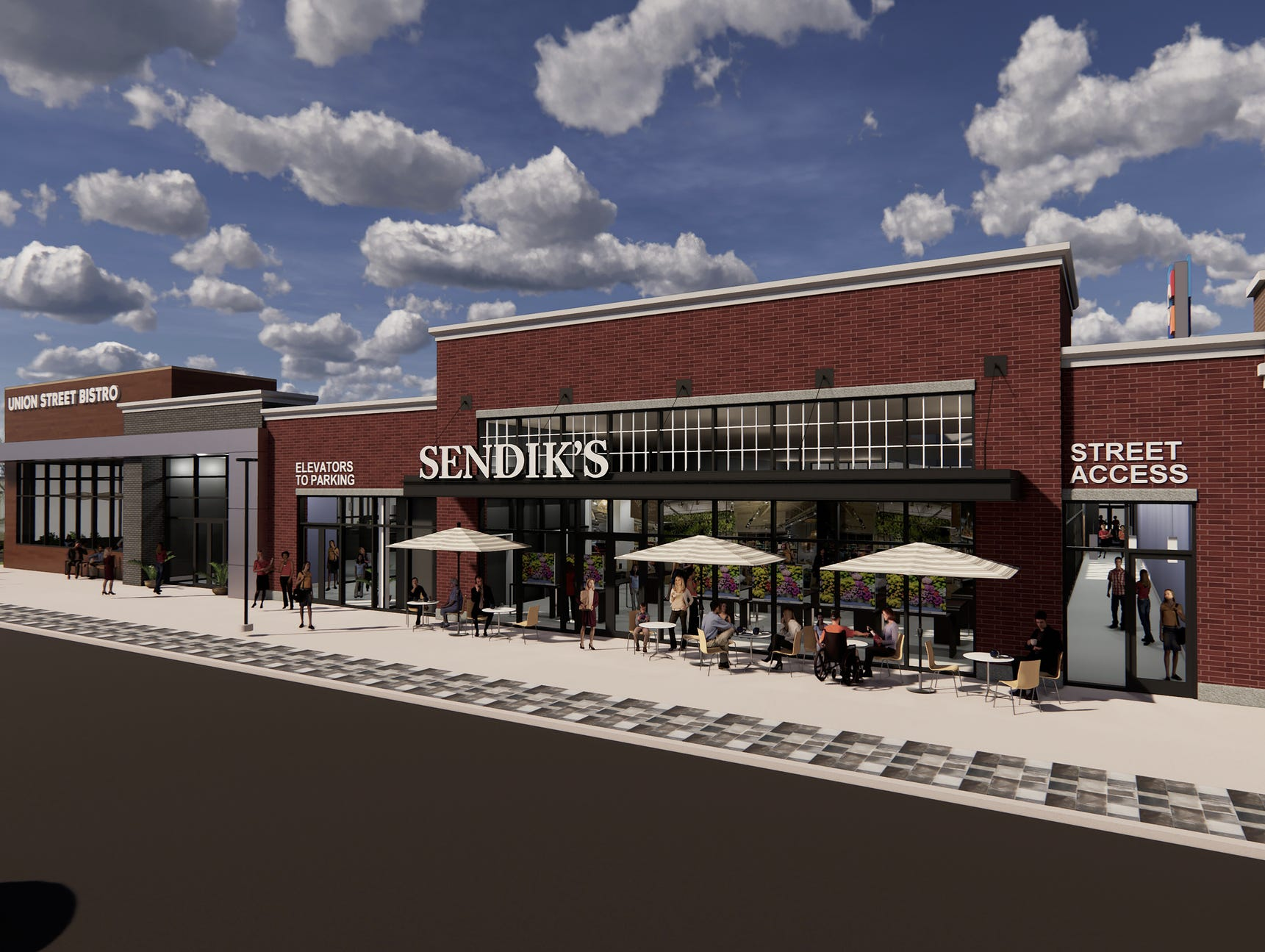 The expanded Sendik's supermarket at The Corners mixed-use development will include new space at the street level.