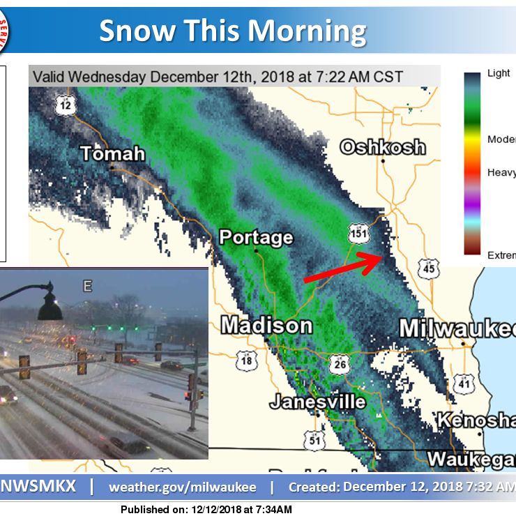 Wisconsin weather: Snow and freezing rain mix to affect Wednesday travel