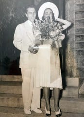 B. Artin Haig and his wife, Mabel, on their wedding day.