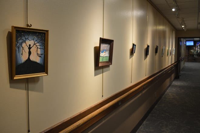 The 'Paintings of Hope' exhibit can be seen at Clement Manor in Greenfield until Jan. 10.
