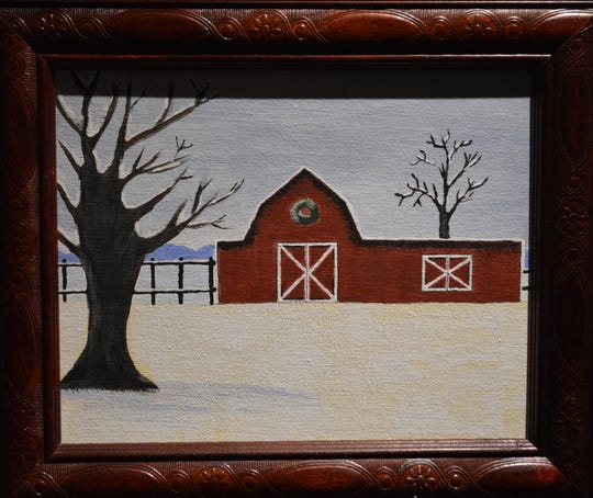 Cindy Bystrek described her style as primitive, and said she prefers painting outdoor scenes.