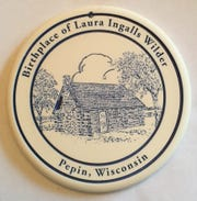 A bread warmer celebrates Pepin as the birthplace of Laura Ingalls Wilder.