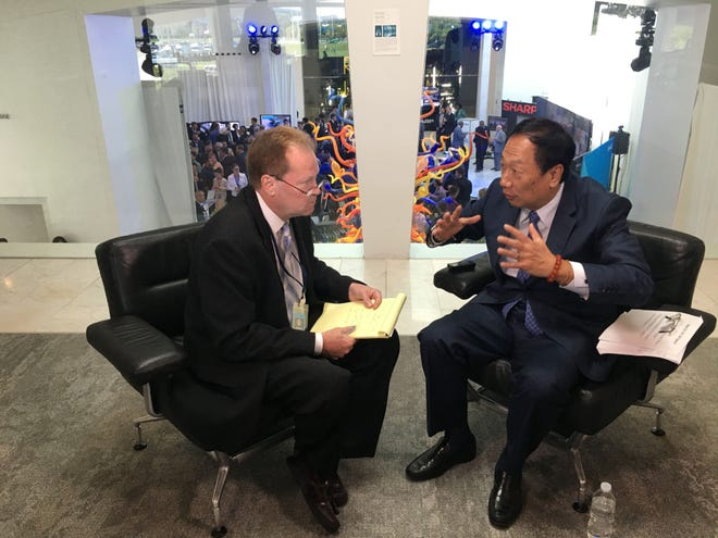 Steve Jagler's tenure as business editor and columnist at the Milwaukee Journal Sentinel included the only local interview with Foxconn Technology Group Chairman Terry Gou when the company announced in July 2017 its plans to build a major display panel production plant in Mount Pleasant.  -  Photo by Mike De Sisti / Milwaukee Journal Sentinel