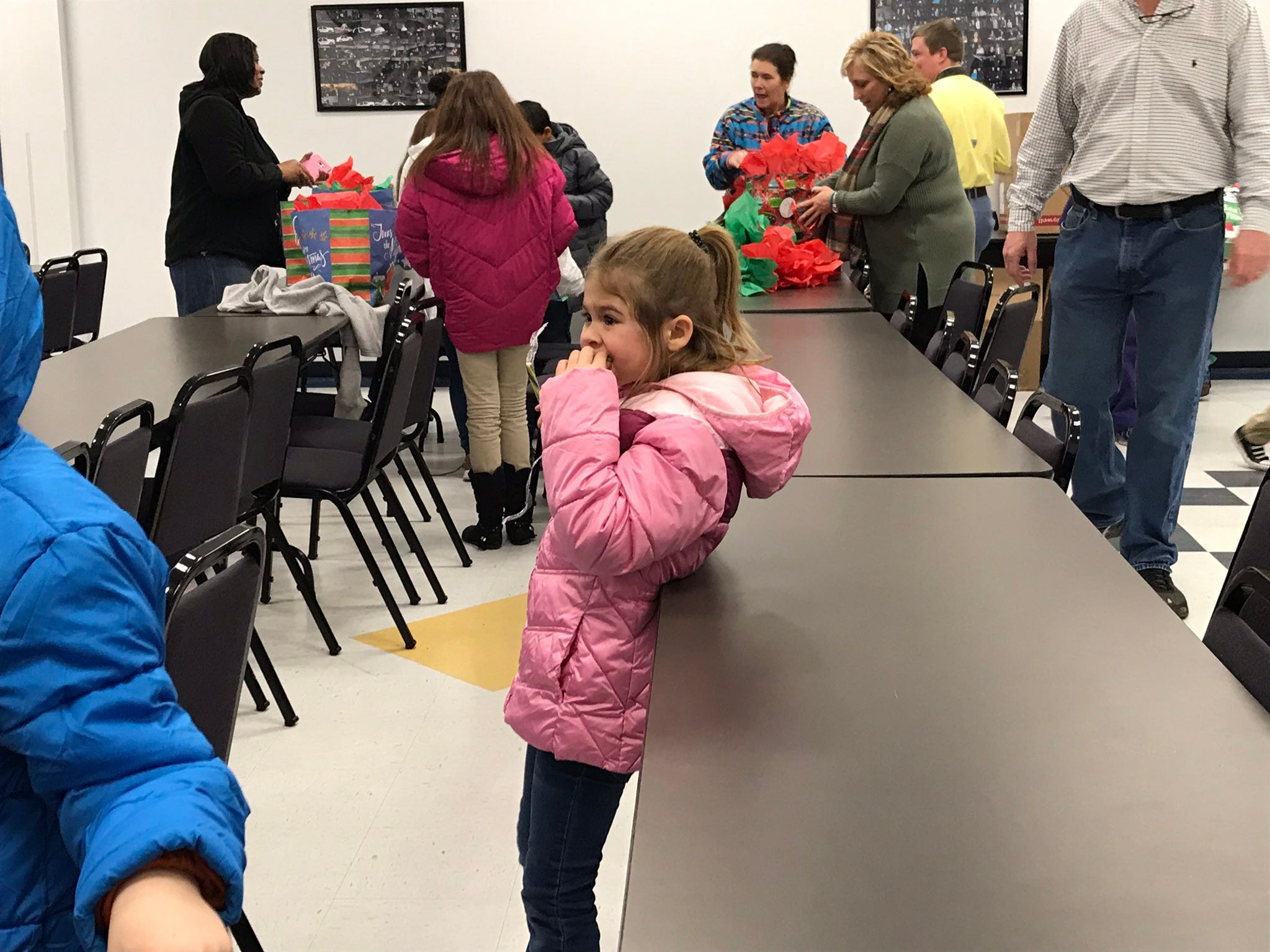 Children of various ages from multiple Ouachita Parish schools received jackets, gloves and hats through the program.