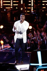 "Montgomery resident Kirk Jay performs ""I Swear"" in the semifinal round of NBC's ""The Voice"" on Monday, Dec. 10, 2018."