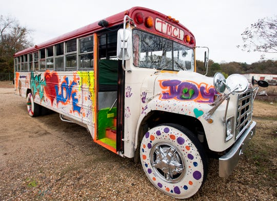 The That's My Child art bus is seen at the local youth organization, in Montgomery, Ala., on Wednesday December 12, 2018.
