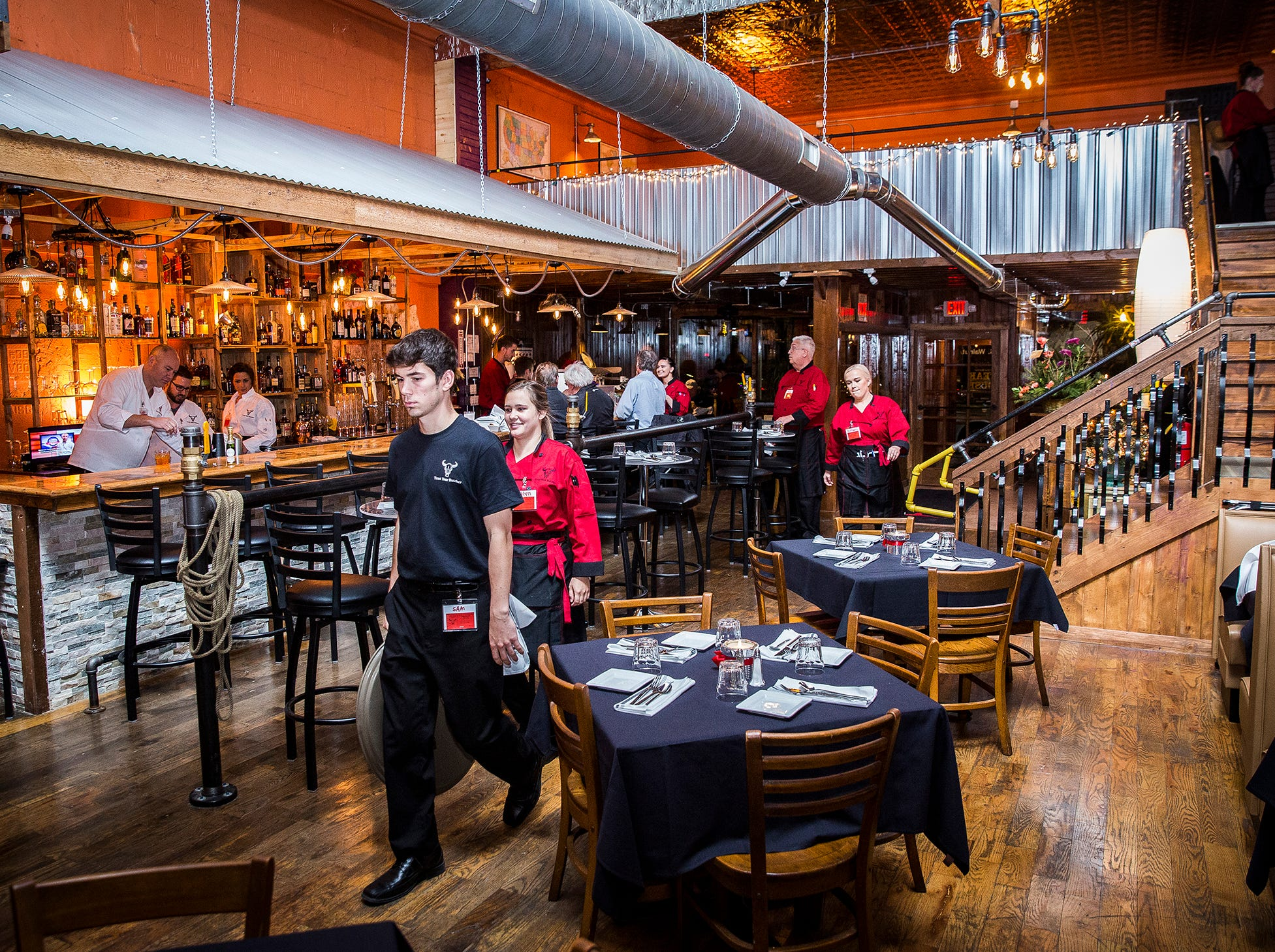 """Ron Lahody's """"Trust Your Butcher"""" Steakhouse opened on Walnut Street in downtown Muncie Monday."""