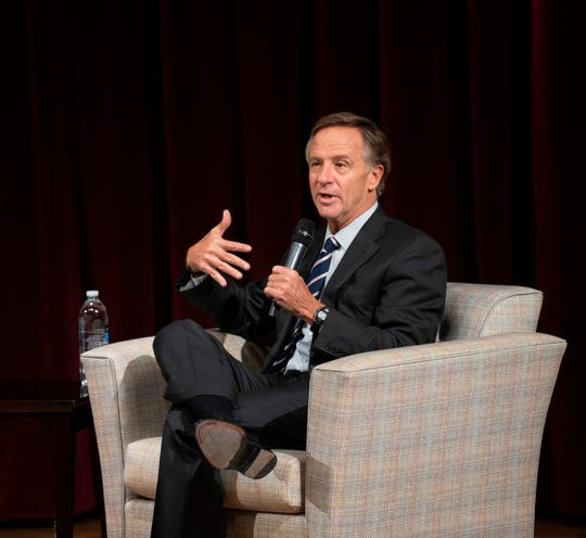 Gov. Bill Haslam discusses higher education at a conversation hosted by the USA TODAY NETWORK - Tennessee.