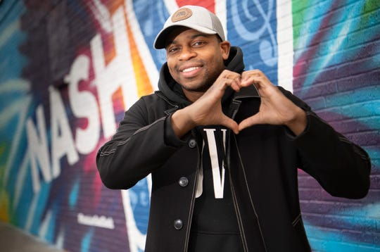 Country music artist Jimmie Allen  Wednesday, Dec. 12, 2018, in Nashville, Tenn.