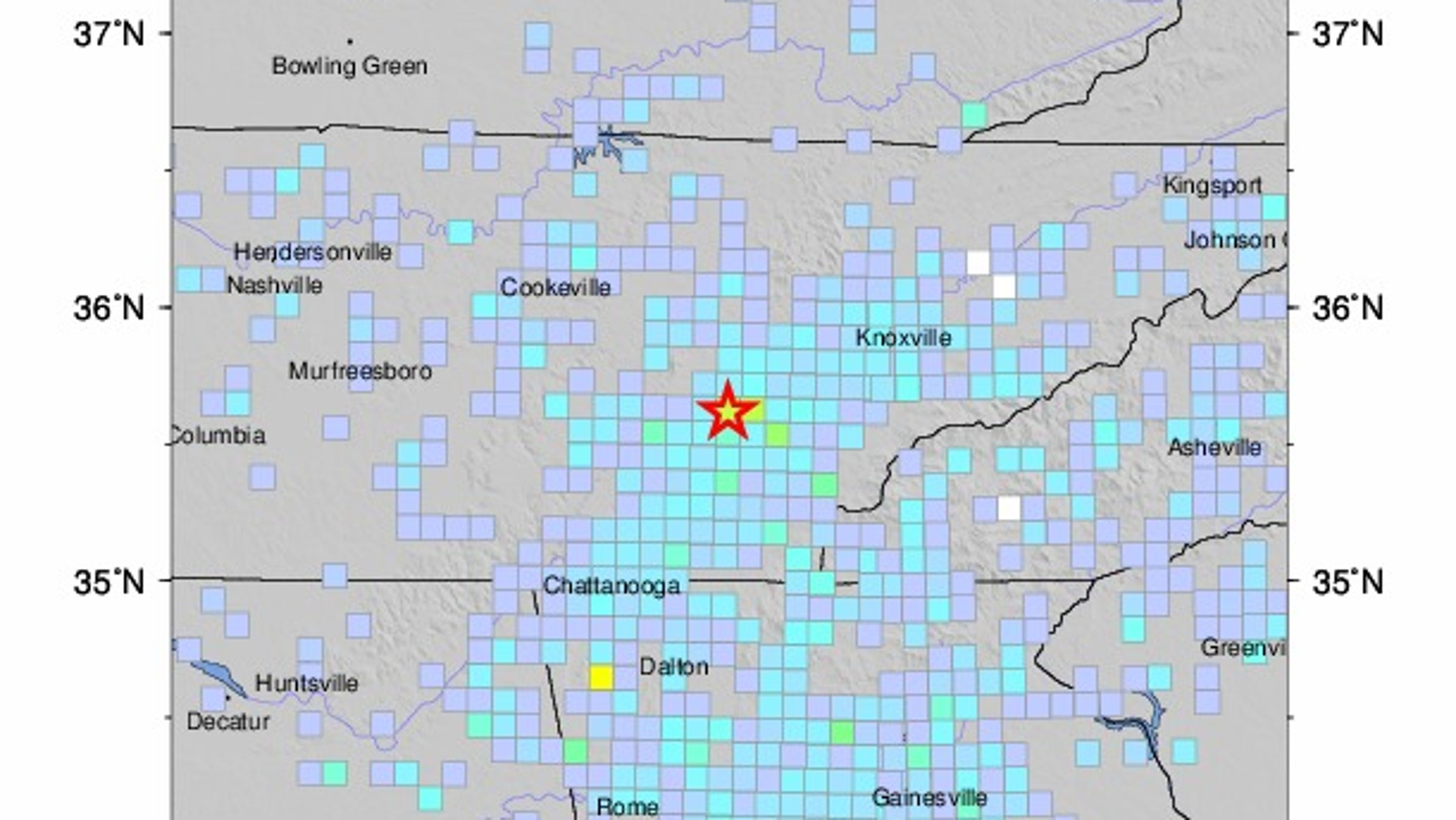 Earthquake in Decatur, Tennessee hits 4.4 magnitude, felt in ...