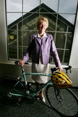 Janet Jernigan, triathlete and executive director of FiftyForward, here April 29, 2009, is the recipient of the 2009 Nashville ATHENA Award.
