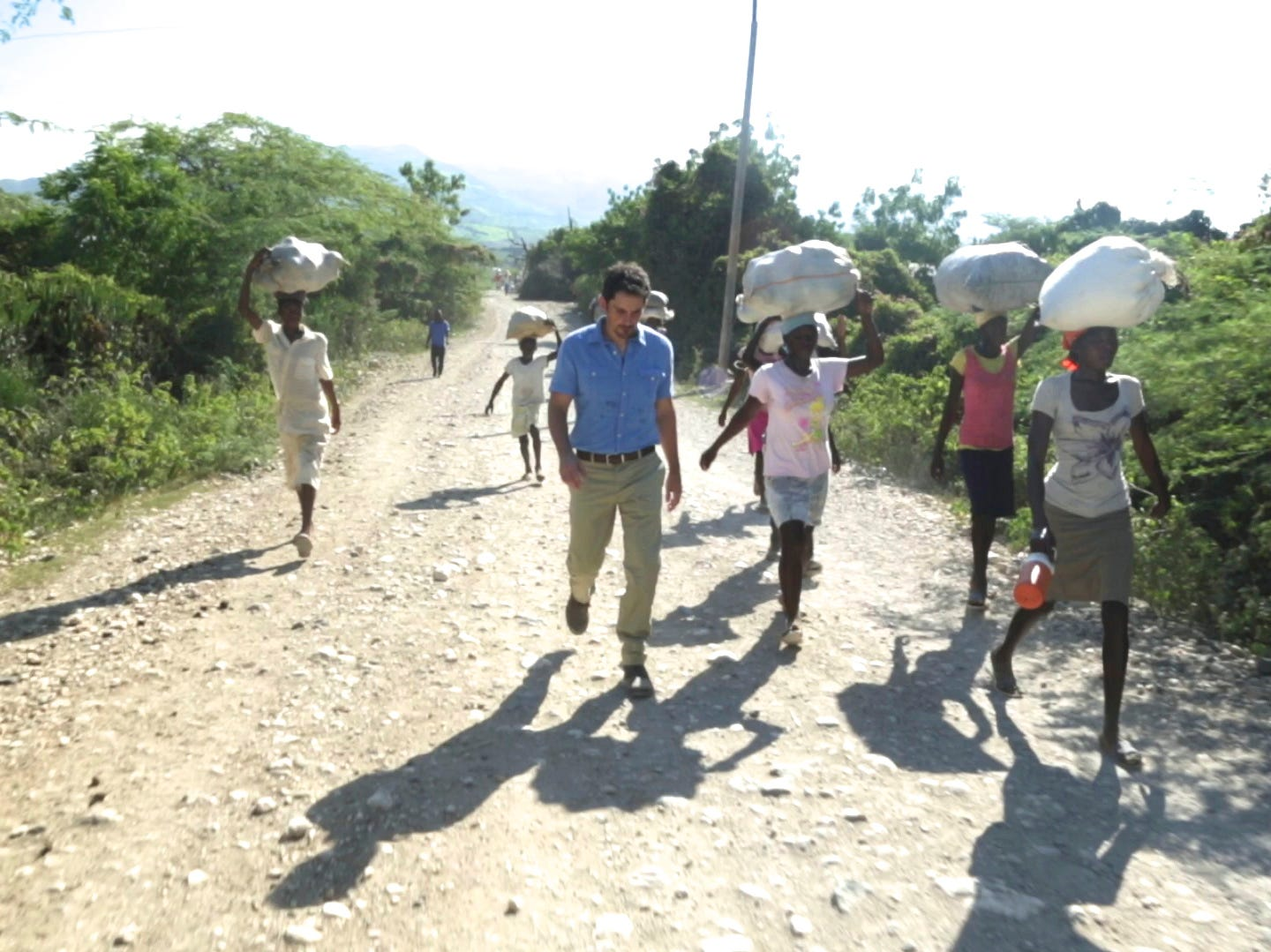 Brad Paisley in September 2013 in Haiti, where he helped bring water to destitute residents there